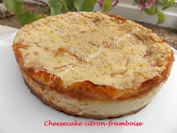 Cheesecake citron-framboise DSCN7696