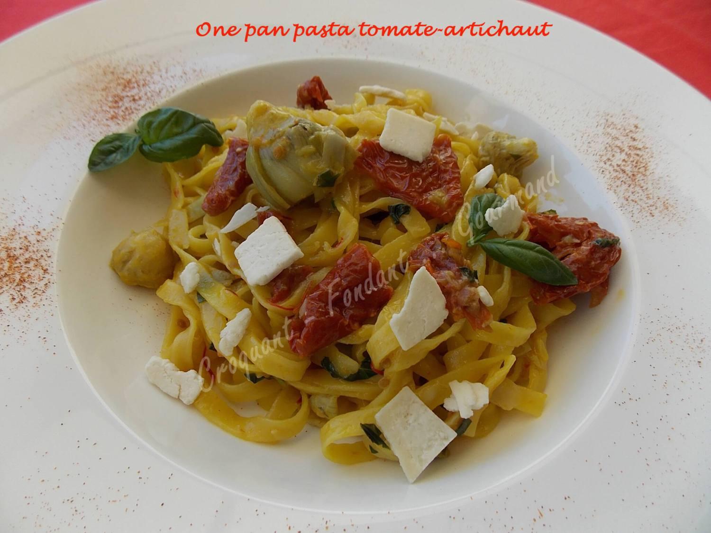 One pan pasta tomate-artichaut DSCN8450