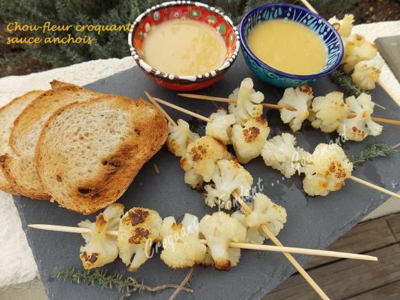 Chou-fleur croquant sauce anchois DSCN1316