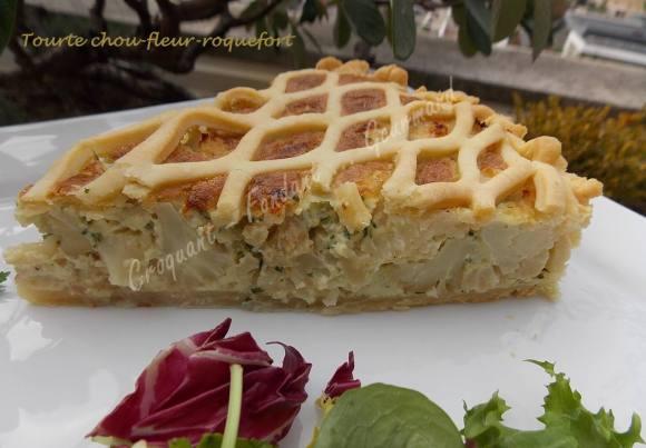 Tourte chou-fleur-roquefort DSCN1205