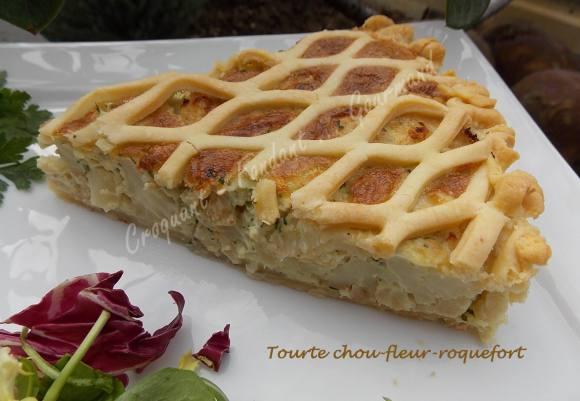 Tourte chou-fleur-roquefort DSCN1206