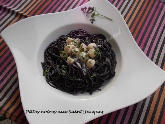 Pâtes noires aux Saint-Jacques DSCN2242
