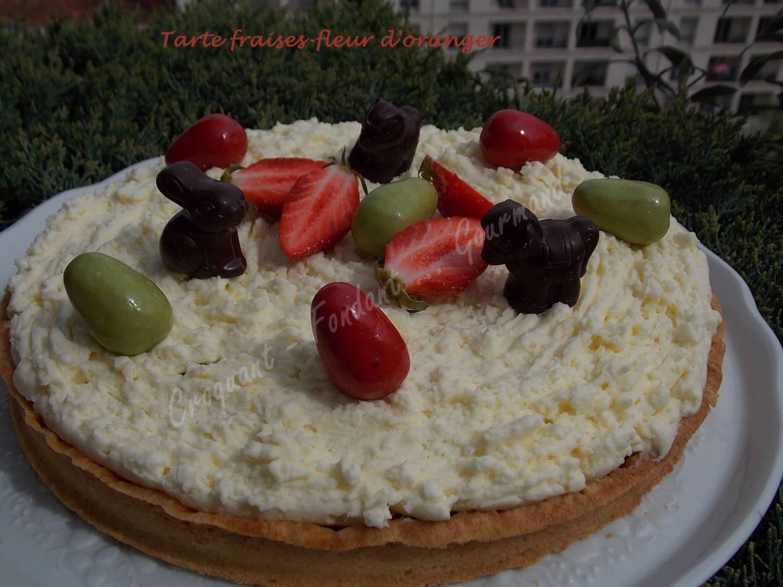 Tarte fraises-fleur d'oranger DSCN3676