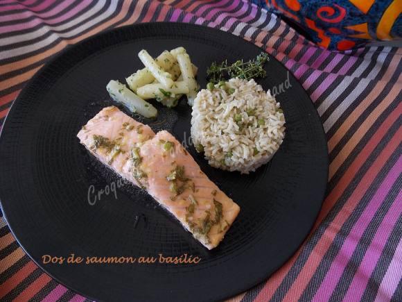 Dos de saumon au basilic DSCN3940