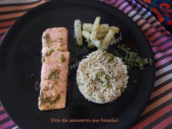 Dos de saumon au basilic DSCN3942