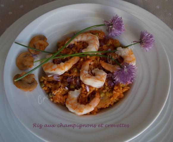 Riz aux champignons et crevettes DSCN4229