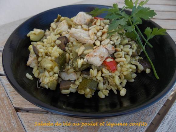 Salade de blé au poulet et légumes confits DSCN5110