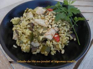 Salade de blé au poulet et légumes confits DSCN5111