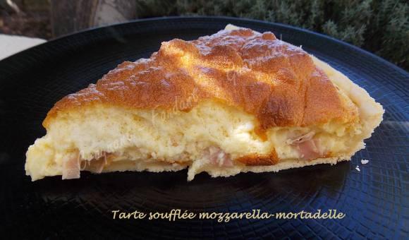 Tarte soufflée mozzarella-mortadelle DSCN5844