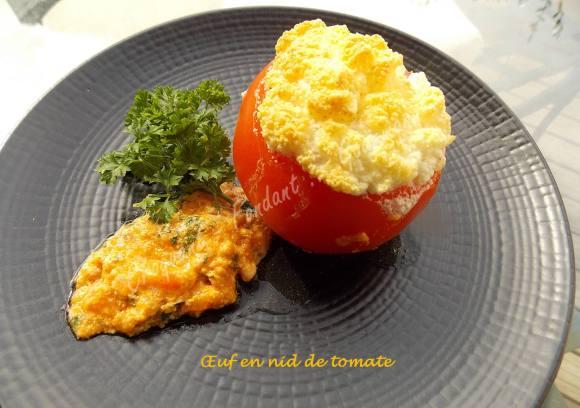 Œuf en nid de tomate DSCN0326