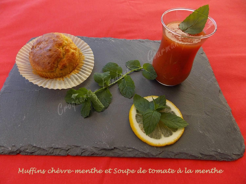 Muffins chèvre-menthe et Soupe de tomate à la menthe DSCN5913