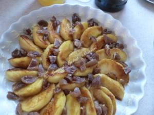 Flognarde aux pommes et aux marrons P1010965