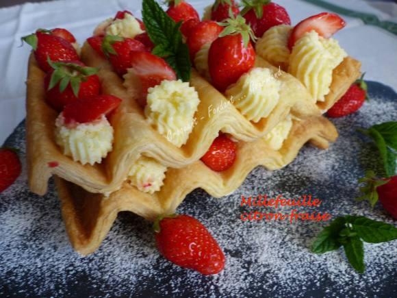 Millefeuille citron-fraise P1030063