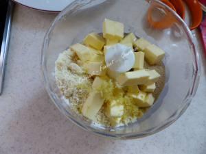 Crumb cake à l'abricot P1040113