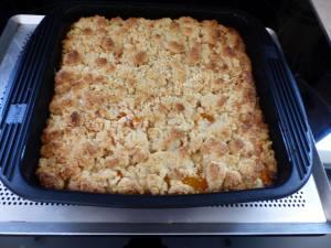 Crumb cake à l'abricot P1040116