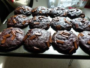 Muffins double chocolat façon Starbucks P1030915