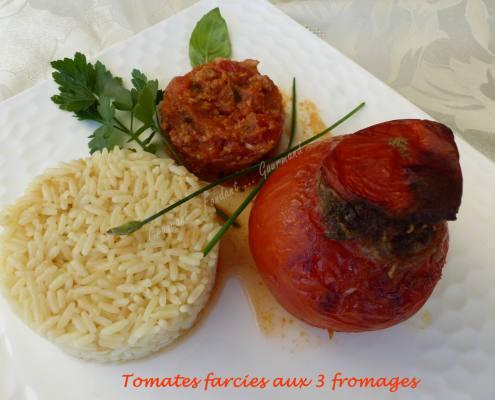 Tomates farcies aux 3 fromages P1030964