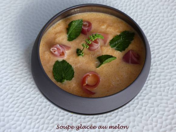 Soupe glacée au melon P1040429