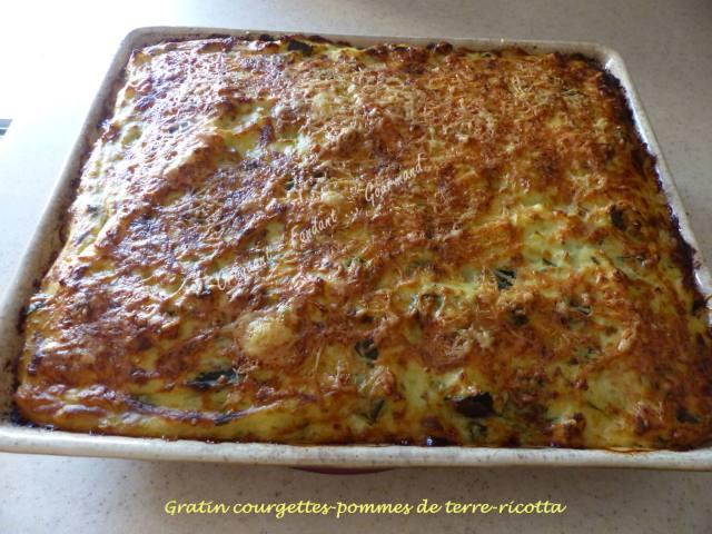 Gratin courgettes-pommes de terre-ricotta P1040627