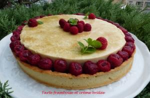 Tarte framboise et crème brûlée P1040795