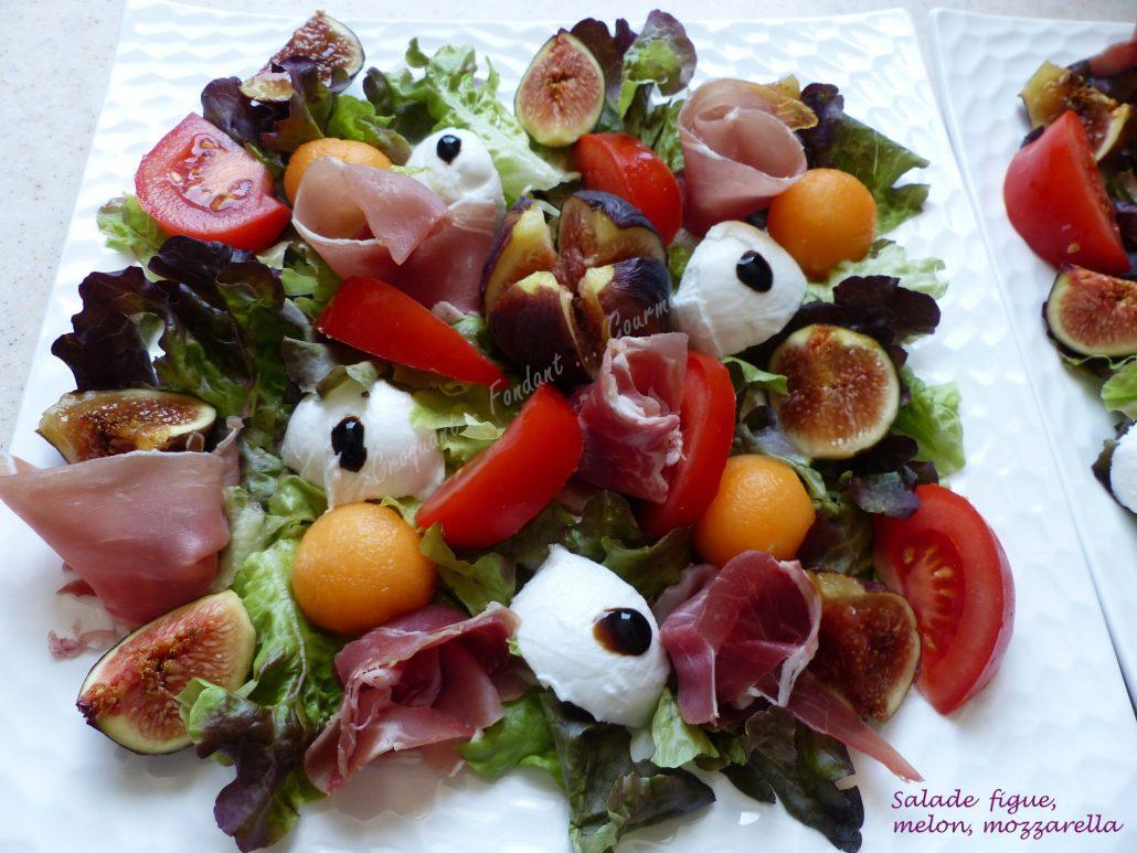 Salade Figue Melon Mozzarella Croquant Fondant Gourmand