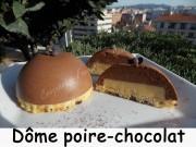 Dôme poire-chocolat Index DSCN1427
