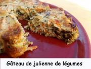 Gâteau de julienne de légumes Index DSCN0723