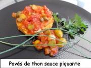 Pavés de thon sauce piquante Index DSCN9785