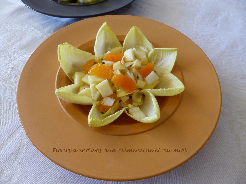 Fleurs d'endives à la clémentine et au miel P1070967 R