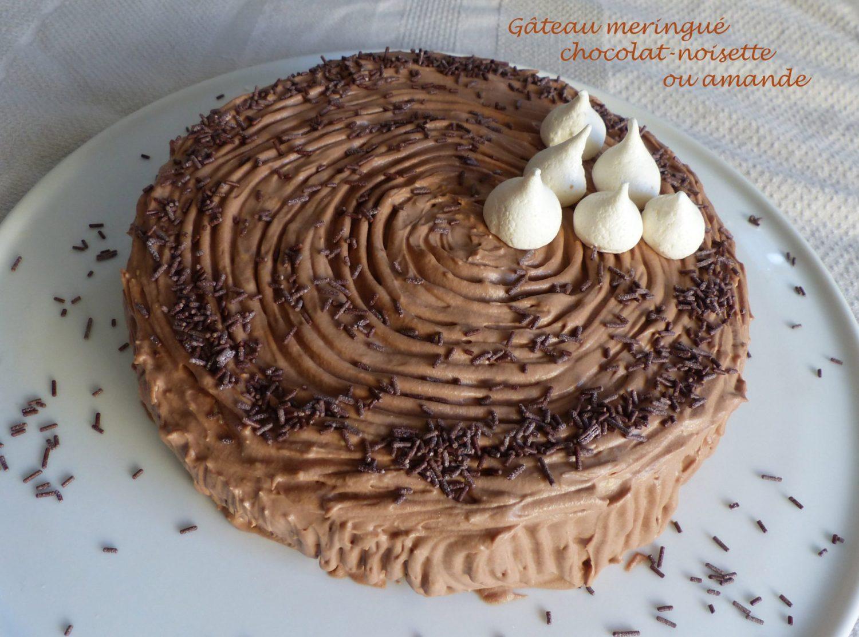 Gâteau meringué chocolat-noisette ou amande P1080439 R
