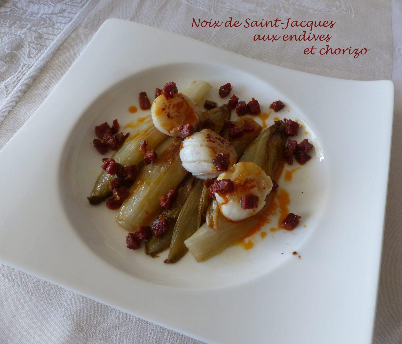 Noix de Saint-Jacques aux endives et chorizo P1080575 R