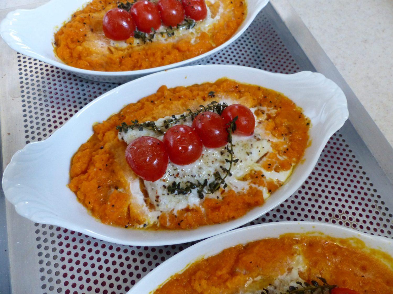 Filets de loup sur purée de carotte P1020661
