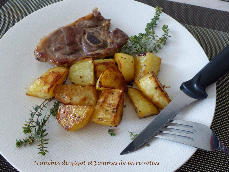 Tranches de gigot et pommes de terre rôties P1090515 R