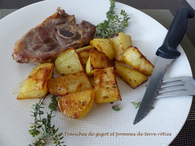 Tranches de gigot et pommes de terre rôties P1090517 R