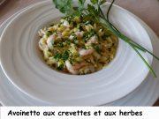 Avoinetto aux crevettes et aux herbes Index P1100130