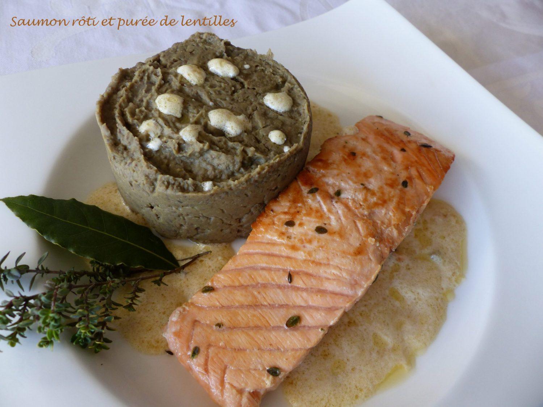 Saumon rôti et purée de lentilles P1090503 R