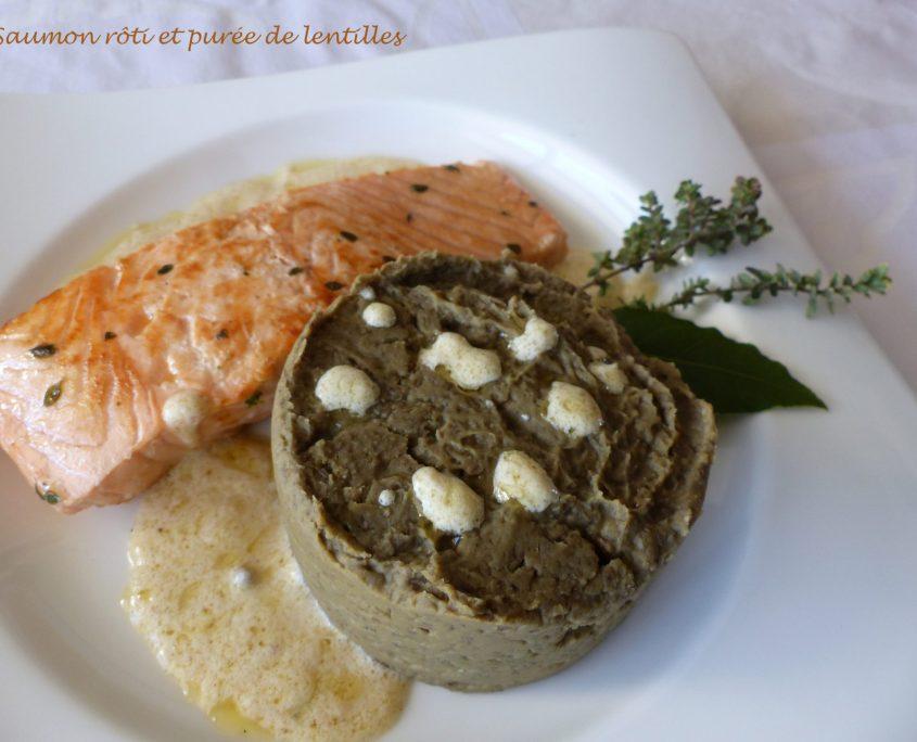 Saumon rôti et purée de lentilles P1090504 R