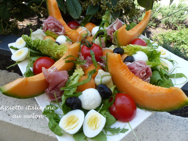 Assiette italienne au melon P1110760 R