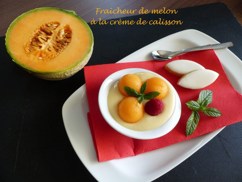 Fraîcheur de melon à la crème de calisson P1120078 R