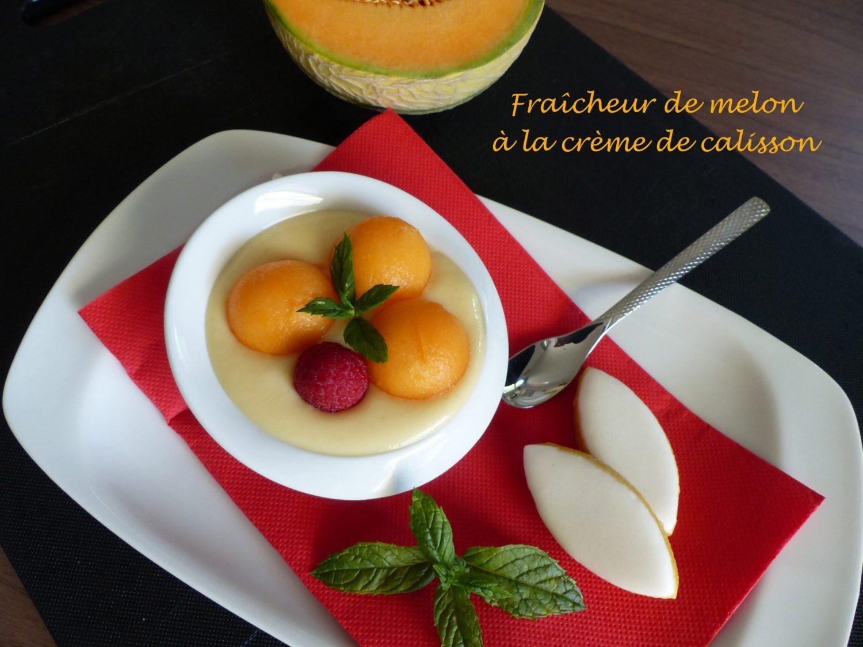 Fraîcheur de melon à la crème de calisson P1120081 R