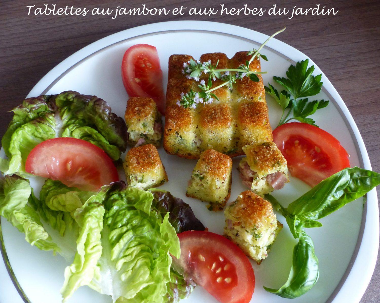 Tablettes au jambon et aux herbes du jardin P1110105 R