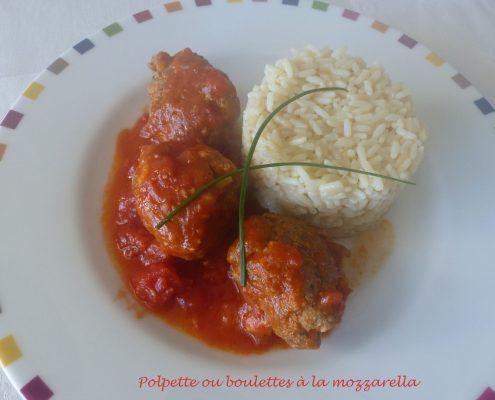 Polpette ou boulettes à la mozzarella P1050570