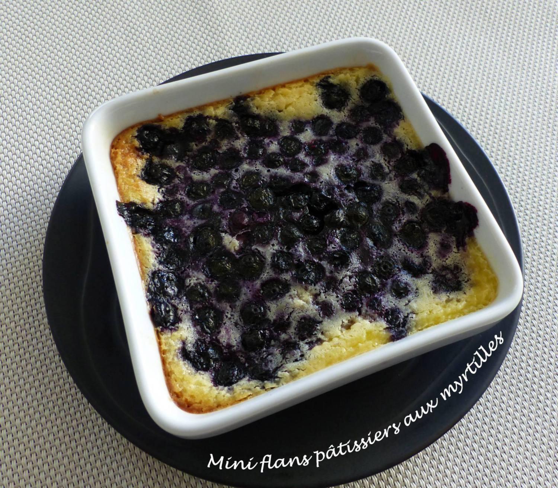 Mini flans pâtissiers aux myrtilles P1160235 R