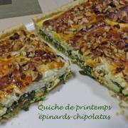 Quiche de printemps épinards-chipolatas P1170109 R