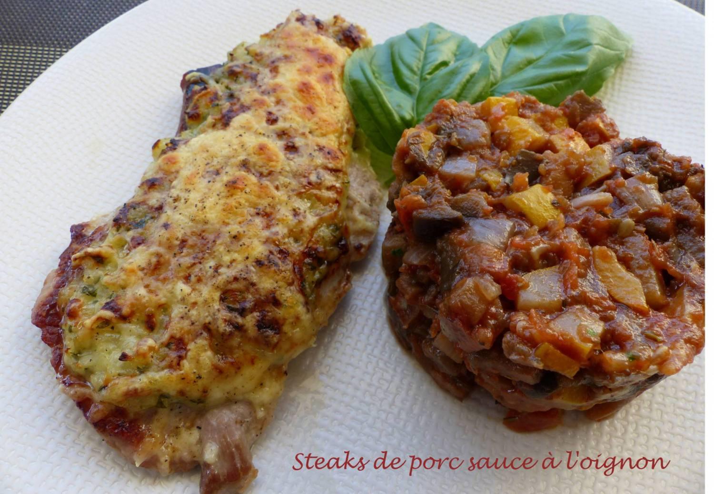 Steaks de porc sauce à l'oignon P1190363 R