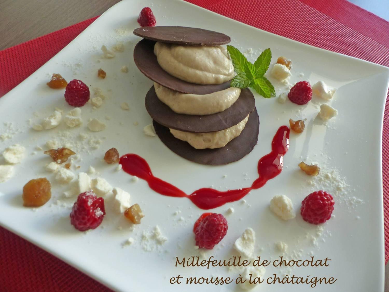 Millefeuille de chocolat et mousse à la châtaigne P1200903 R