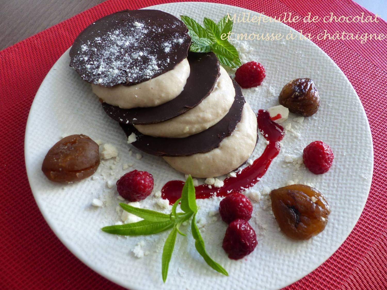 Millefeuille de chocolat et mousse à la châtaigne P1200913 R