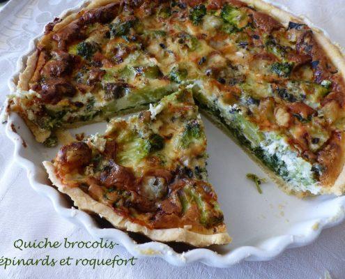 Quiche brocolis-épinards et roquefort P1140748 R