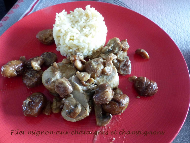 Filet mignon aux châtaignes et champignons P1220104 R