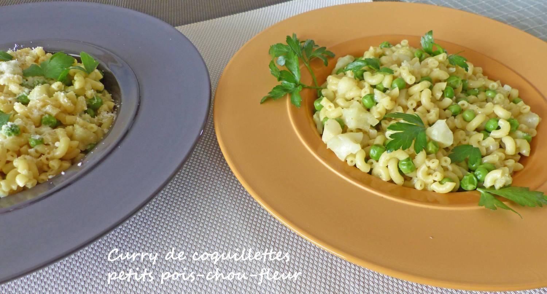 Curry de coquillettes petits pois-chou-fleur P1240656 R